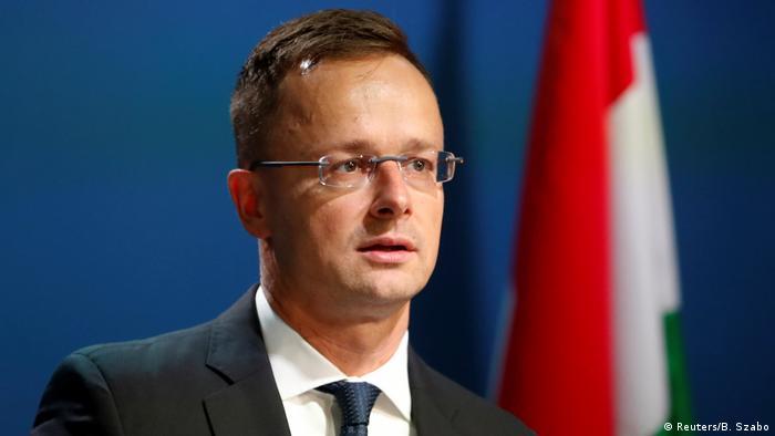 Министр иностранных дел и внешнеэкономических связей Венгрии Петер Сийярто