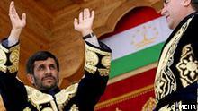 Irans Preäsident Ahmadinejad in Tajikistan, Tajikistan, Iran und Nachbarn *** MEHR Agency, Iran CMS: 08.09