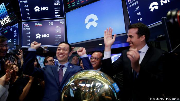 USA, New York: Börsengang des chinesischen Start-Ups Nio Inc.