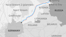 Infografik Karte Nord Steam gas pipelines EN