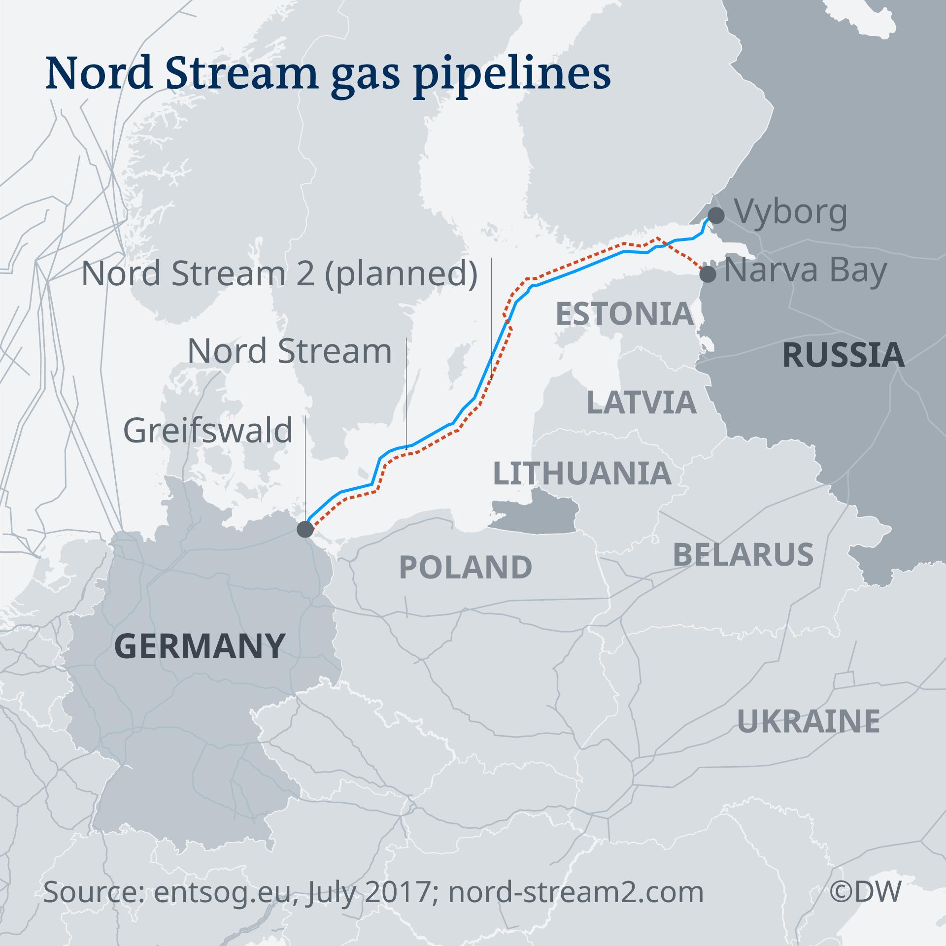 Nord Stream 2 Karte.Nord Stream 2 Builders Forge Ahead Despite Renewed Us