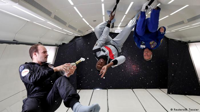 Usain Bolt in zero gravity