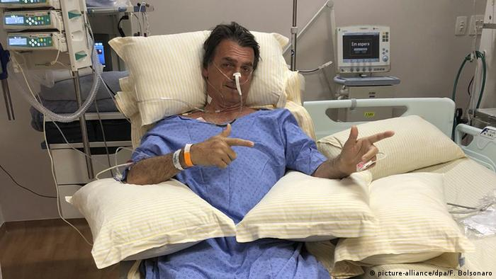 Messerattacke auf Präsidentschaftskandidaten in Brasilien Jair Bolsonaro (picture-alliance/dpa/F. Bolsonaro)