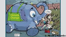 A cartoon from Mwelwa Musonko showing an elephant