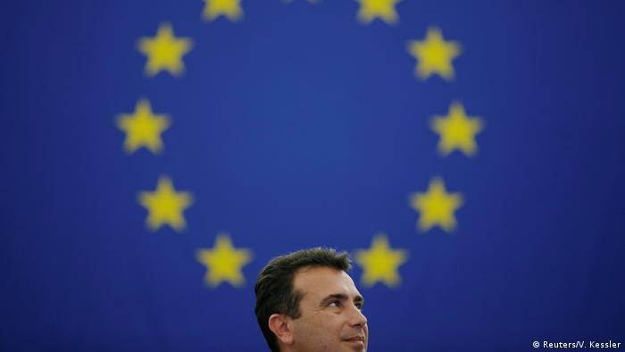 Mazedonischer Premierminister Zoran Zaev Rede vor dem Europaparlament (Reuters/V. Kessler)