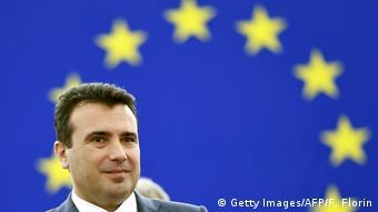 Europaparlament der Mazedonische Premierminister Zoran Zaev (Getty Images/AFP/F. Florin)