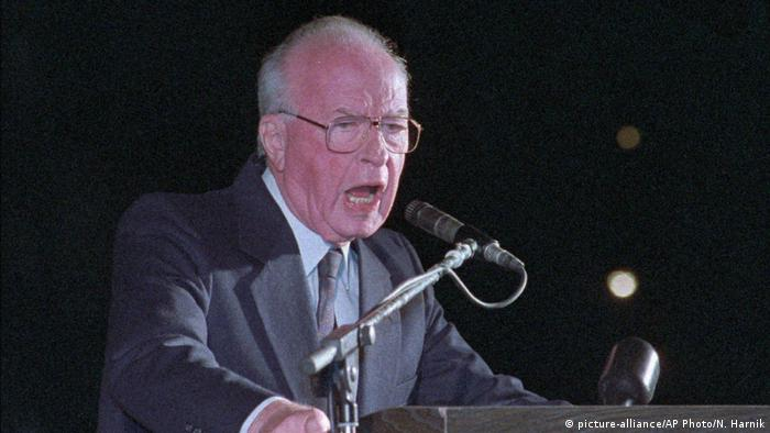 Israel Premierminister Yitzhak Rabin (picture-alliance/AP Photo/N. Harnik)