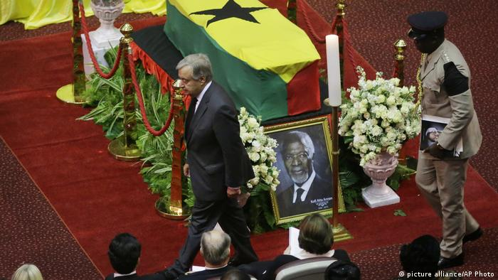 Ghana Beisetzung Kofi Annan, Antonio Guterres (picture alliance/AP Photo)