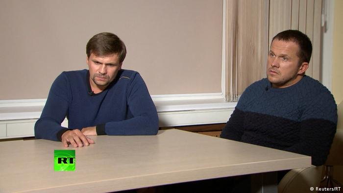 Alexander Petrov and Ruslan Boshirov TV interview