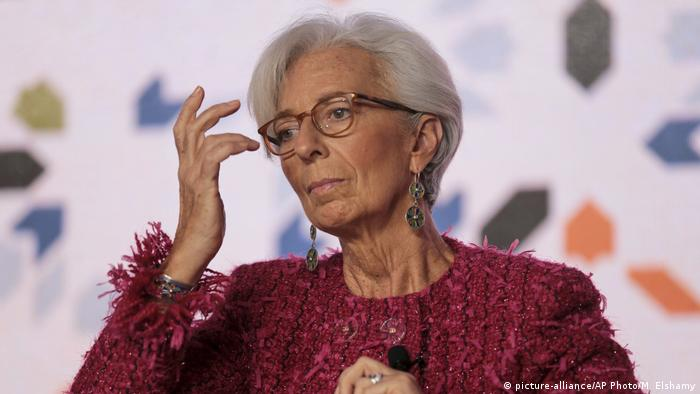 Christine Lagarde in Marokko (picture-alliance/AP Photo/M. Elshamy)
