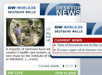 DW Widget: The Latest News Straight to Your Desktop | Web Tools and