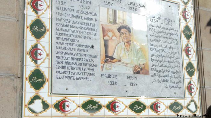 Algerien Algier Wandmalerei zu Ehren von Maurice Audin (picture-alliance/dpa)