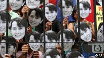 Protesters all over the world demonstrated for the release of Aung San Suu Kyi