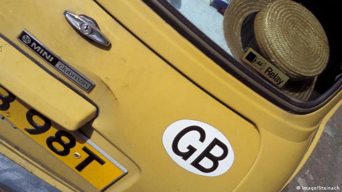 Berlin Britisches Nummernschild an Auto