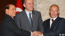 Türkei Berlusconi Erdogan Putin