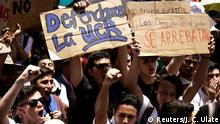 Costa Rica Demonstration von Studenten und Arbeitern in San Jose (Reuters/J. C. Ulate)