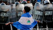 Protestas en Nicaragua en 2018.