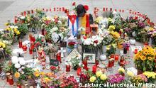 Deutschland Chemnitz - Blumen am Tatort