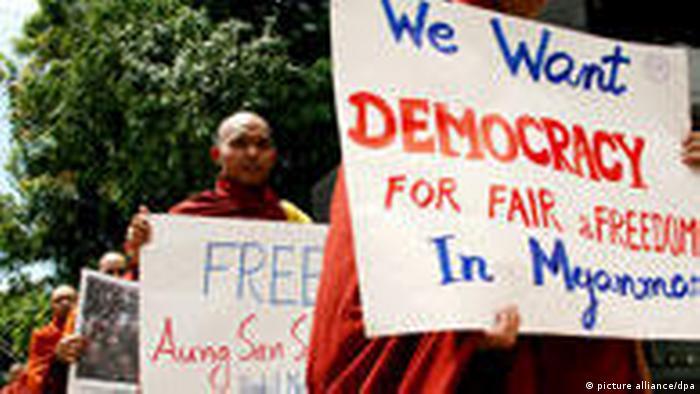 Myanmar Burma Aung San Suu Kyi (picture alliance/dpa)