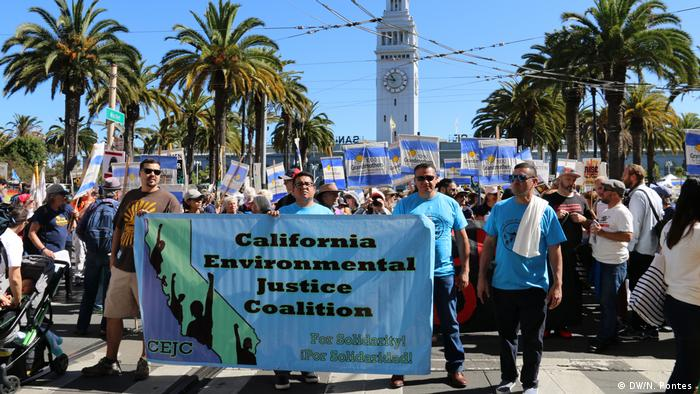 Protesters call for climate justice in San Francisco, California