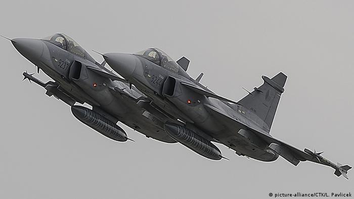 Kampfjet Saab JAS-39 C Gripen (picture-alliance/CTK/L. Pavlicek)