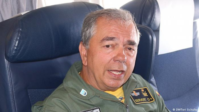 Spanish Air Force Lieutenant General Ruben Garcia Servert (DW/Teri Schultz)