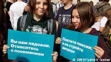 Proteste in Russland gegen Rentenreform