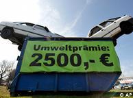 旧车报废奖金:2500欧元