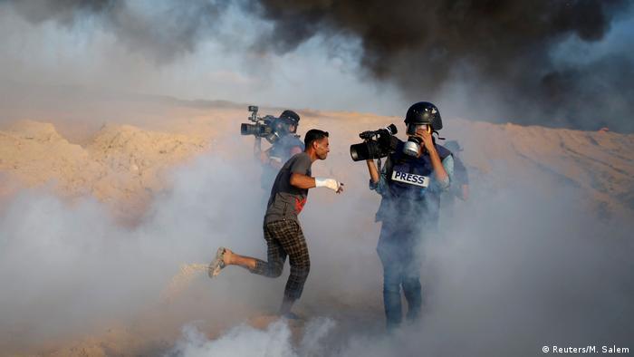 BdTD Protest der Palästinenser gegen die israelische Blockade von Gaza (Reuters/M. Salem)