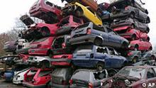 Schrottplatz Abgewrackte Autos Abwrackprämie