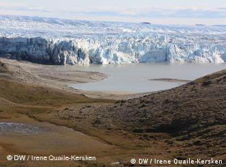Glacier edge in Greenland