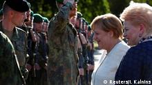 Litauen Besuch der Bundeskanzlerin Angela Merkel