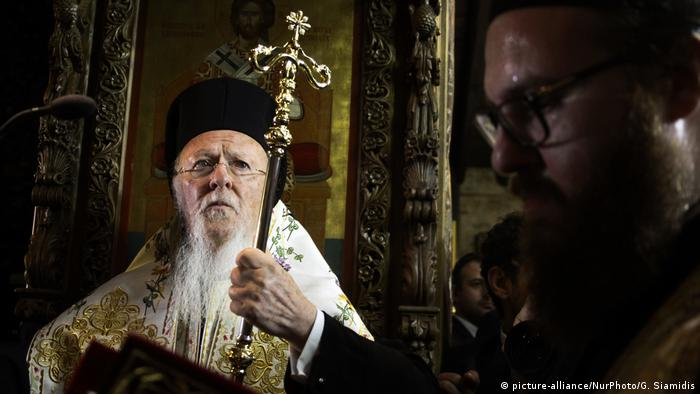 Spiritual leader of the world's Orthodox Christians. Bartholomew I (picture-alliance/NurPhoto/G. Siamidis)