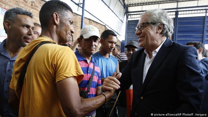 Almagro, este viernes, en la frontera colombiana con Venezuela.