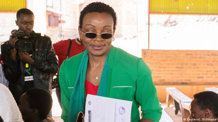 Rwanda opposition politician Victoire Ingabire.