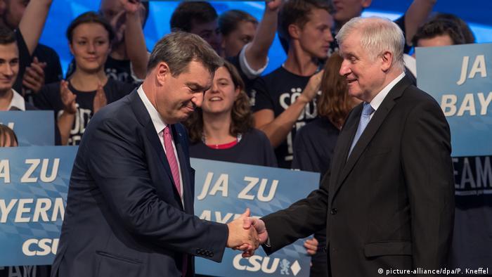 Deutschland CSU Parteitag in München | Markus Söder und Horst Seehofer