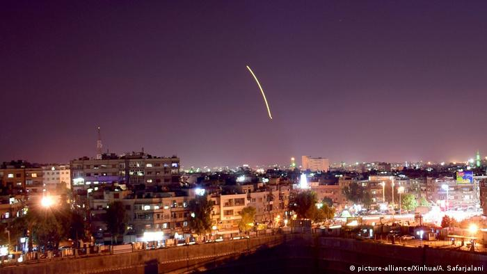 Syrian air defenses intercept missile over Damascus