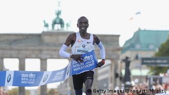 45. Berlin Marathon 2018 Neuer Weltrekord Eliud Kipchoge (Getty Images/Bongarts/M. Hitij)