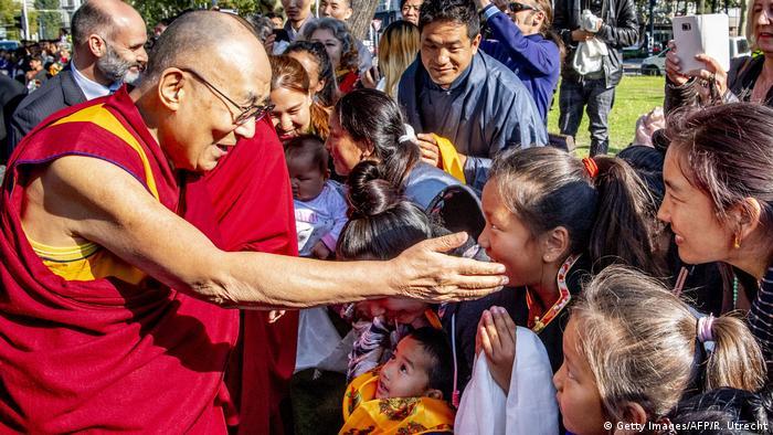 The Dalai Lama meets followers in the Netherlands