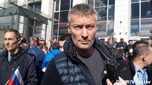 Russland Bürgermeister von Jekaterinburg Evgeniy Roizman während der Demo