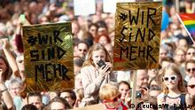 Deutschland Protest Köln zeigt Haltung | Solidarität mit Gleflüchteten
