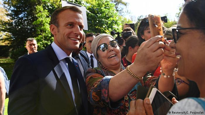 Emmanuel Macron meets the French public during open house at the Elysee Palace