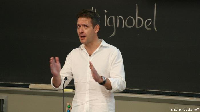 James Cole at his Ig nobel prize presentation
