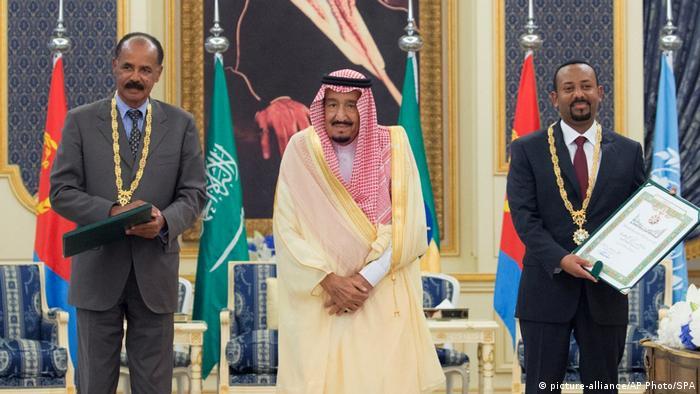 Leaders of Ethiopia, Eritrea and Saudi Arabia sign the peace agreement