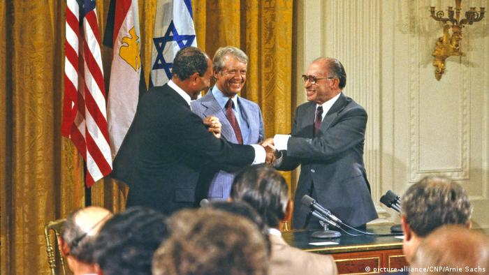 Camp David 1978 Ägypten - Israel Friedensverhandlungen (picture-alliance/CNP/Arnie Sachs)
