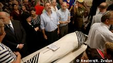 Relatives and friends mourn during the funeral of Ari Fuld, 45, an American-born Jewish settler fatally stabbed by a Palestinian, at a cemetery in Kfar Etzion in the occupied West Bank September 17, 2018. REUTERS/Ronen Zvulun