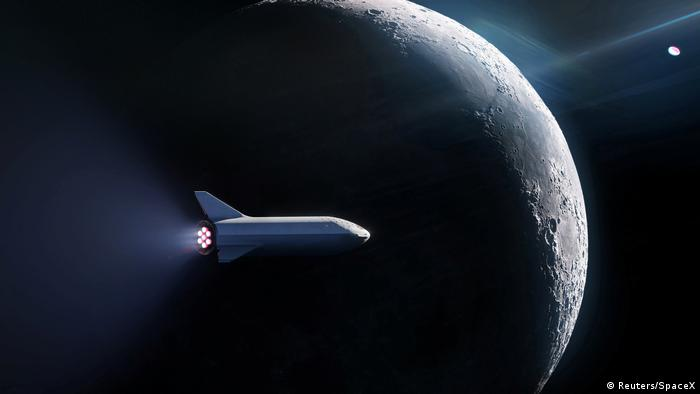 SpaceX Big Falcon Rocket (BFR) Lunar Mission launch vehice