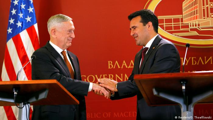James Mattis in Mazedonien (Reuters/O. Thoefilovski)