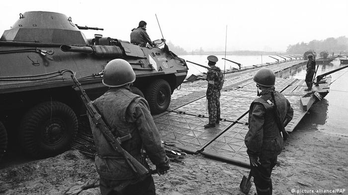 Northern Group of Soviet Forces on exercise in Poland