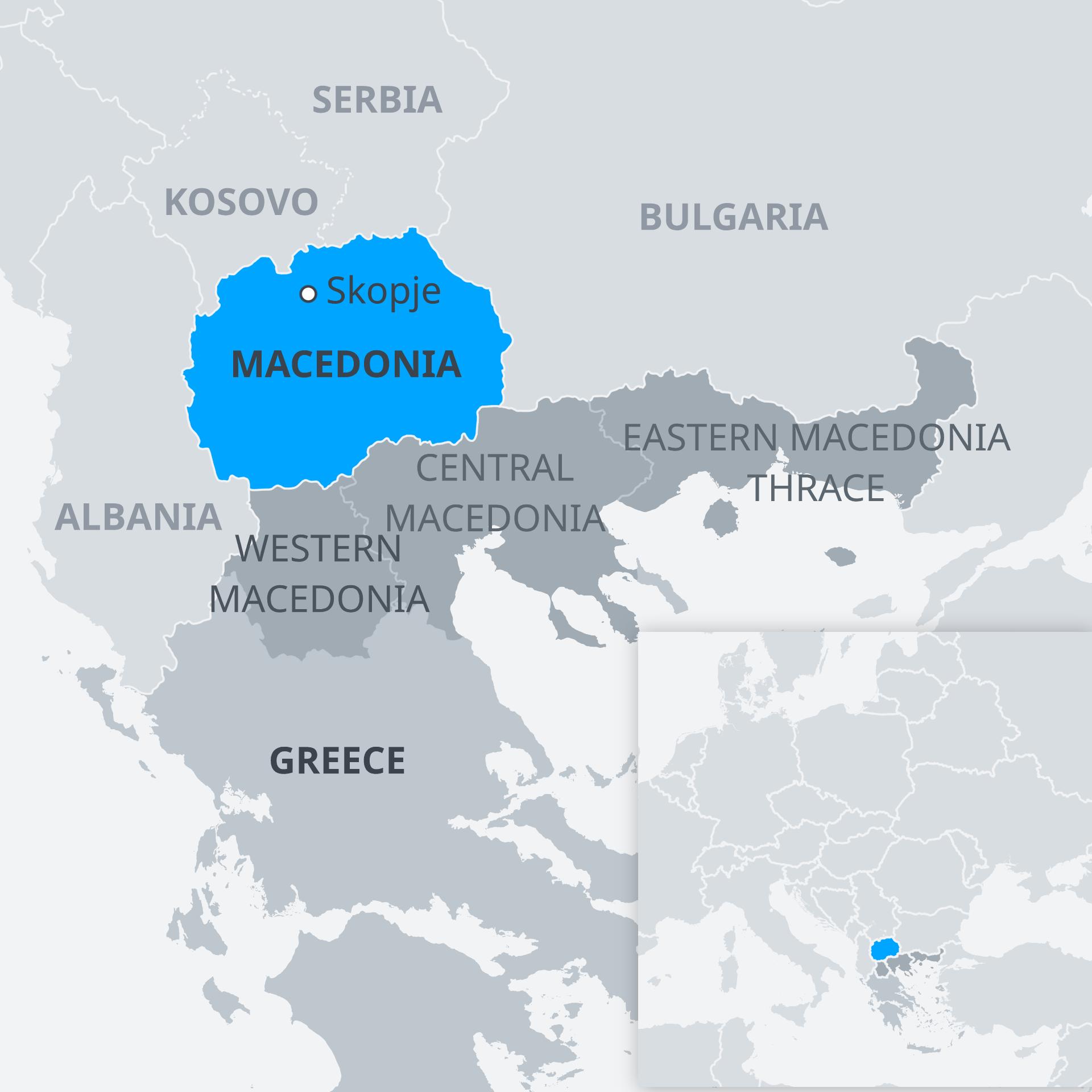 Karte Mazedonien EN